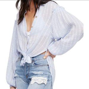 Free People Headed to the Highlands Button Up XS